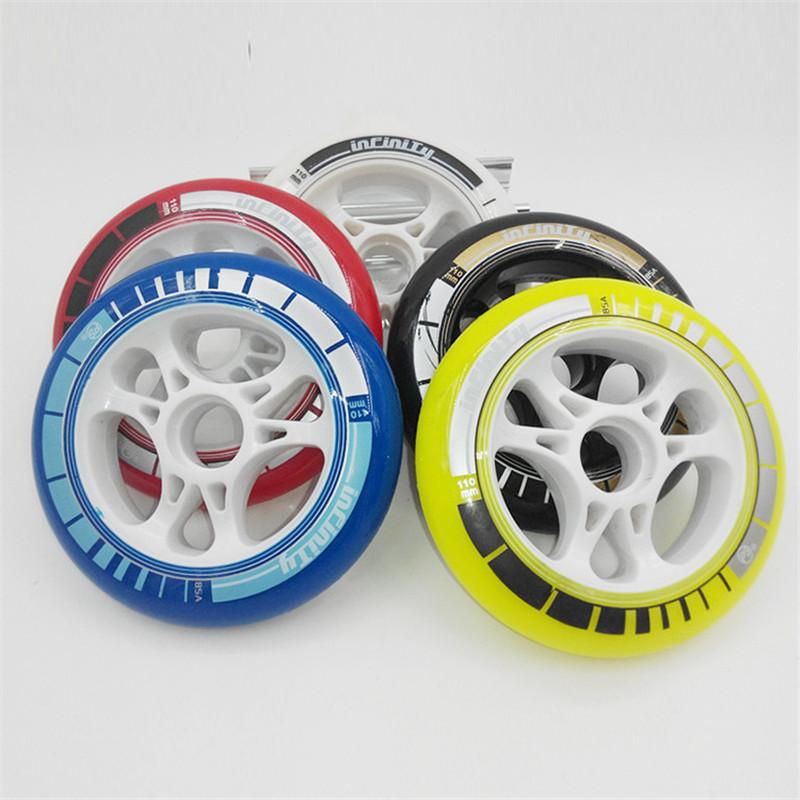 PS inline speed skate wheels for 85A elastic PU 110mm 100mm 90mm racing wheel Online shopping