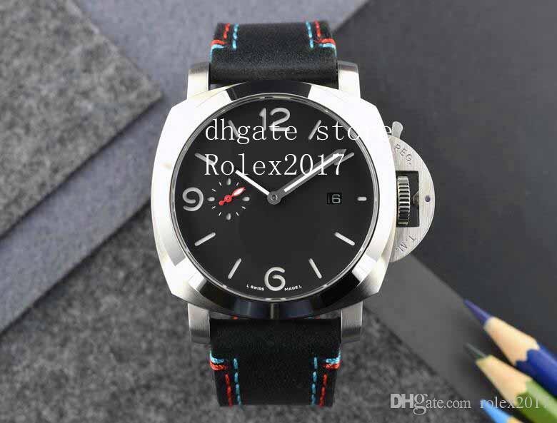 2021 Men's 3 DAYS 2813 Movement Power savings Counterclockwise Manual winding movement Diving Fashion Black faceplate luminous Watches