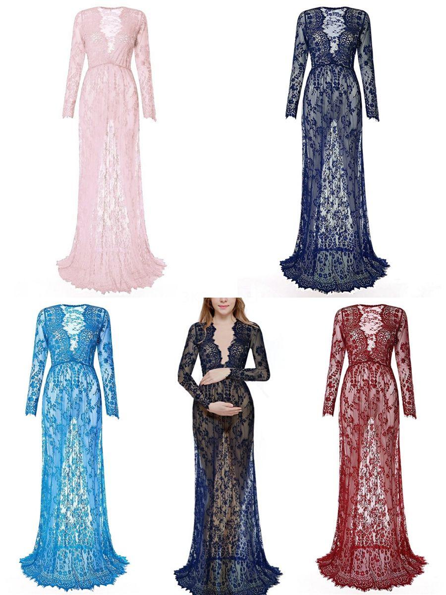 2020 cristal de luxe design Robes de Mariée Sexy Plongeant col en V à manches longues en dentelle diaphane Appliqued robes de mariée avec chapelle longue Trai # 96
