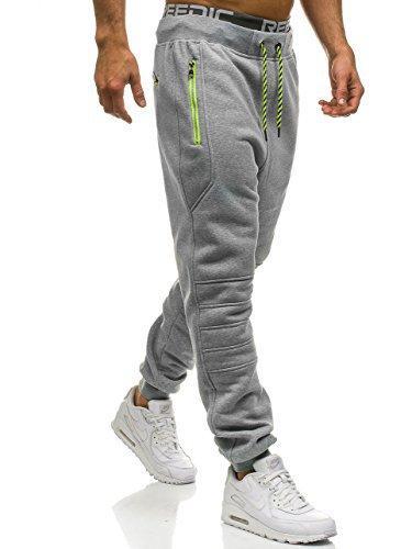 Moletom Homens Zipper Pockets cor sólida pantalon hombre Casual Calças Vestuário 2018 Joggers Pants Man Forma da rua
