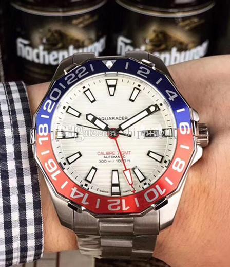 뜨거운 판매 새로운 GMT 세라믹 베젤 남성의 자동 기계식 무브먼트 시계 고급 캐주얼 자동 권선 마스터 디자인 시계
