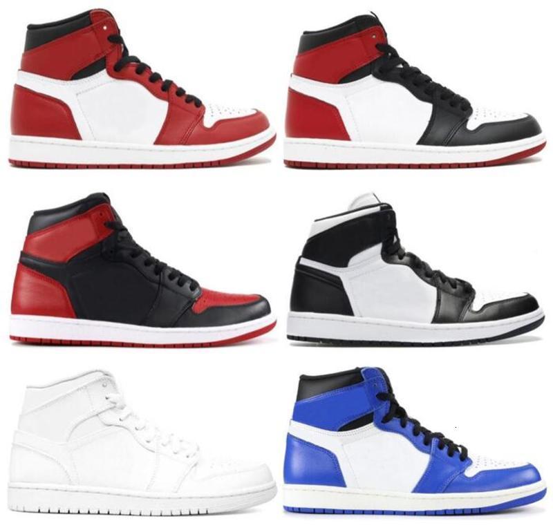 1s niños zapatos de baloncesto Niños 1 Chicago Bred Toe juego Negro blanco real Niño Niña Deportes zapatillas de regalo los niños