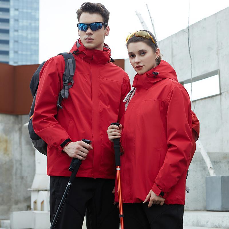 Casaquinhos Logo Homens e mulheres personalizado ao ar livre outono e inverno montanhismo jaquetas ao ar livre por atacado fabricantes sob encomenda
