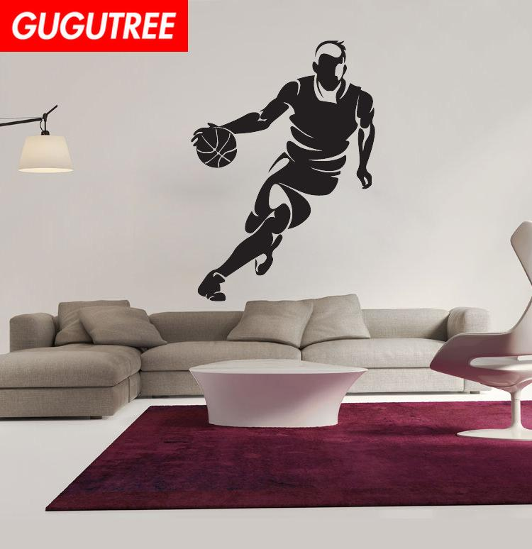 Decorate Home basketball cartoon art wall sticker decoration Decals mural painting Removable Decor Wallpaper G-1988