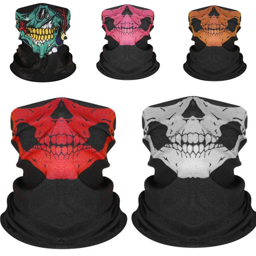 Masque de vacances transparente multi-fonctionnelle Magic Head Skull Scarf, Halloween Props, Squelette Tête, Visage Serviette de bain Z13.C # 845 # 427