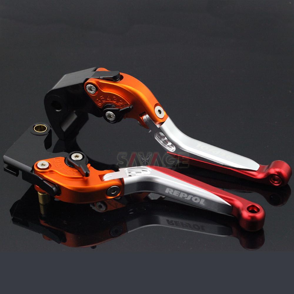 Brake Clutch Lever For HONDA CBR1000RR 2008-2018 CBR600RR 2003-2017 CBR RR Motorcycle Accessories Folding Extendable logo REPSOL