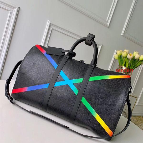 #6458 5A L KEEPALL BANDOULIERE большой емкости женщины дорожная сумка 50 см Galaxy Taiga V мужчины плечо вещевой мешок нести багаж сумка Сумка M30345