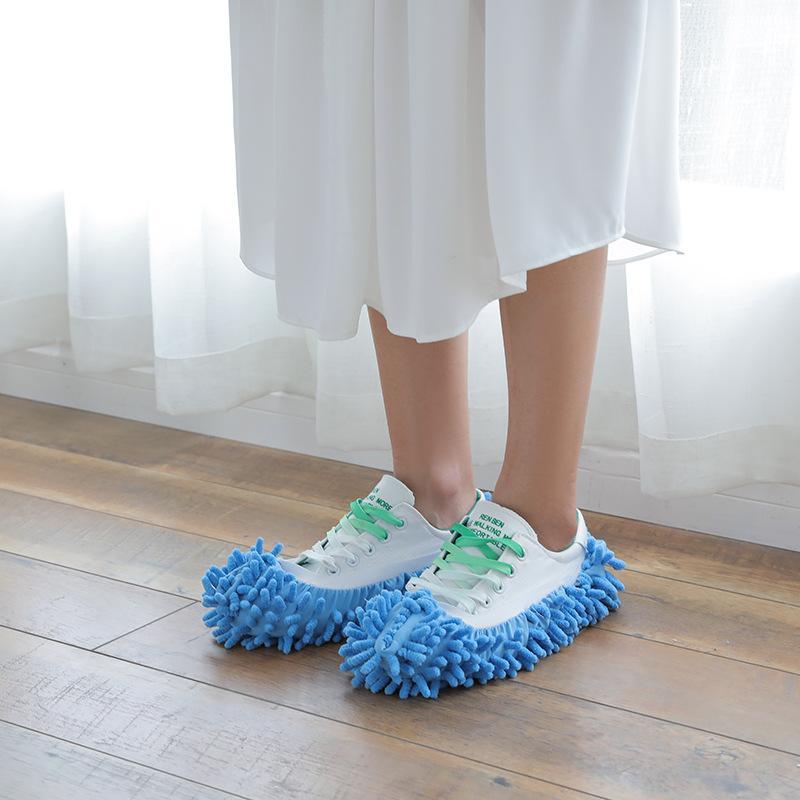 1PC Paspas Terlik Ayakkabı Tembel Ayakkabı Paspas Sınırları ayarlanmalıdır Kullanışlı Toz Terlik Çocuk Evi Temizleyici Kapak çocuklar terlik Wipe