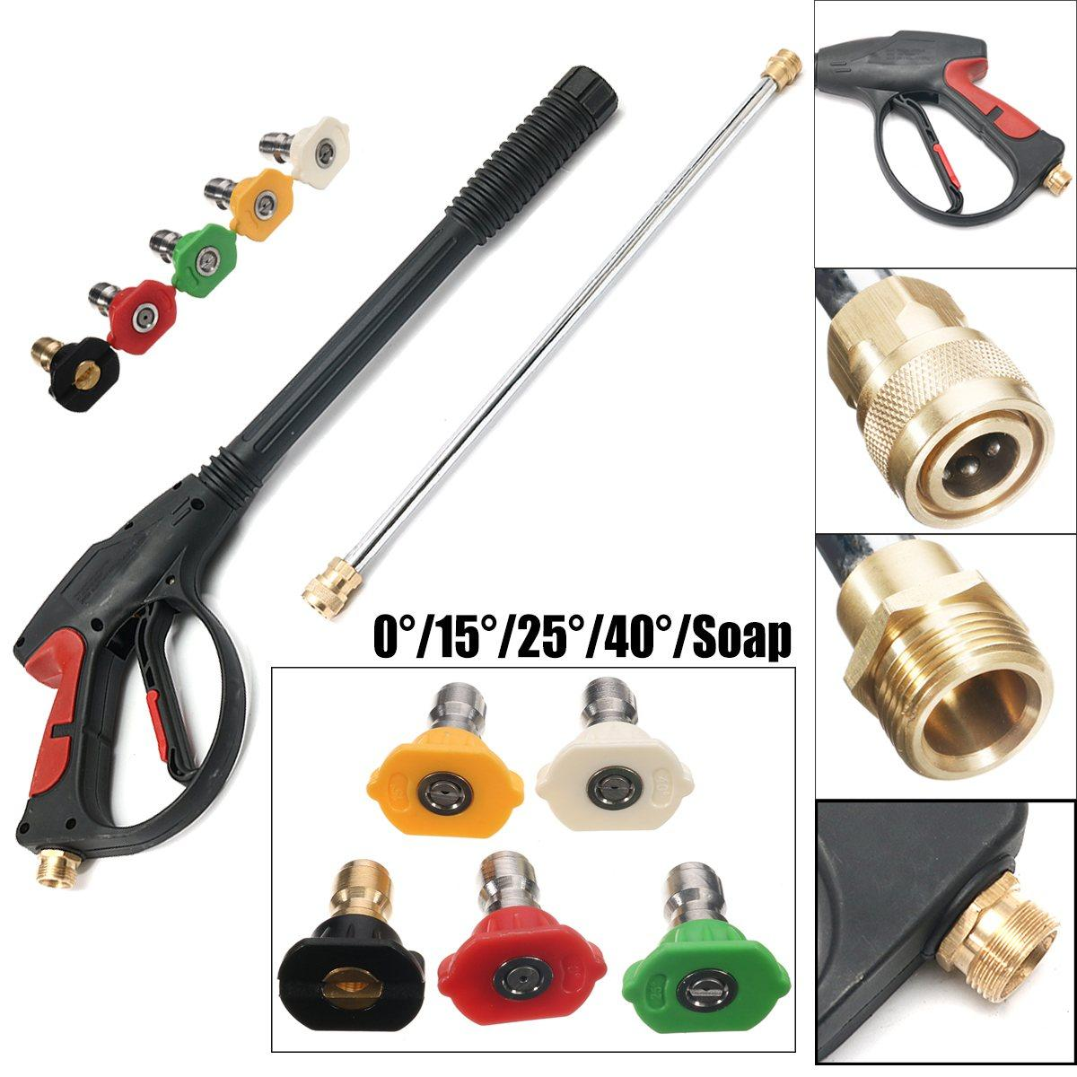 Freeshipping 1 set SPRAY GUN, WAND / LANCE5 스프레이 팁 Power Pressure Washer 워터 펌프 최대 3000 Psi