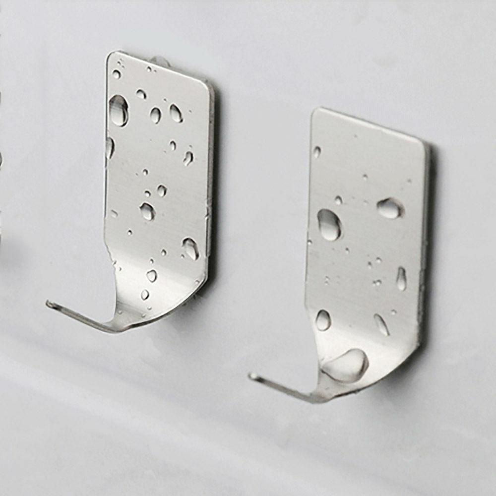 8Pcs Haken Self Adhesive Home Küche Wand-Tür-Edelstahl-Halter-Aufhänger für Dropshipping Edelstahl 3M Hanging