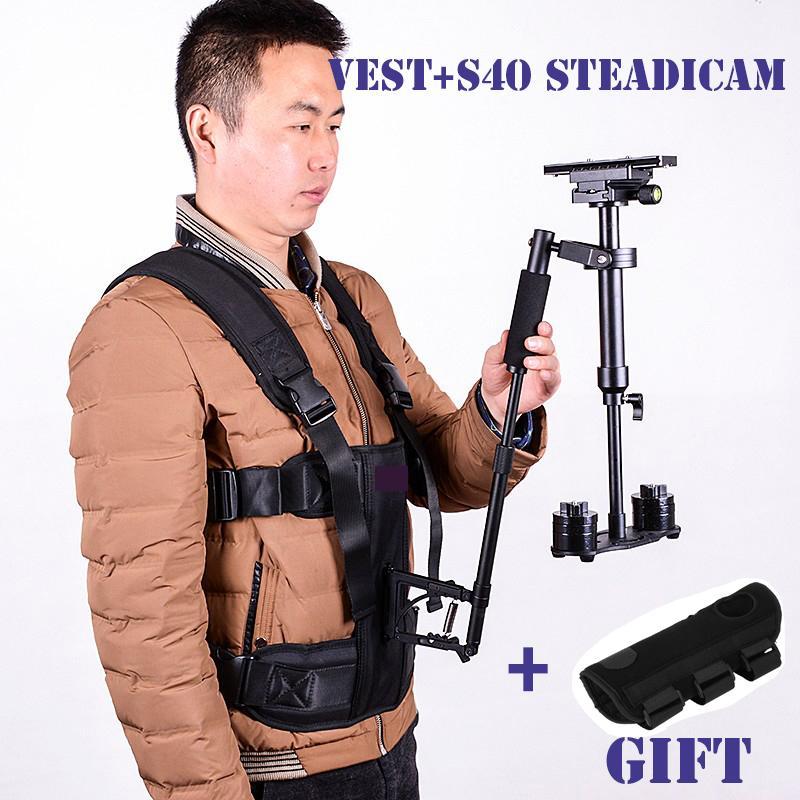 Freeshipping DSLR steadicam 조끼 핸드 헬드 카메라 안정제 비디오 steadicam s40 steadycam Nikon Canon Sony의 5D2 필름 제작