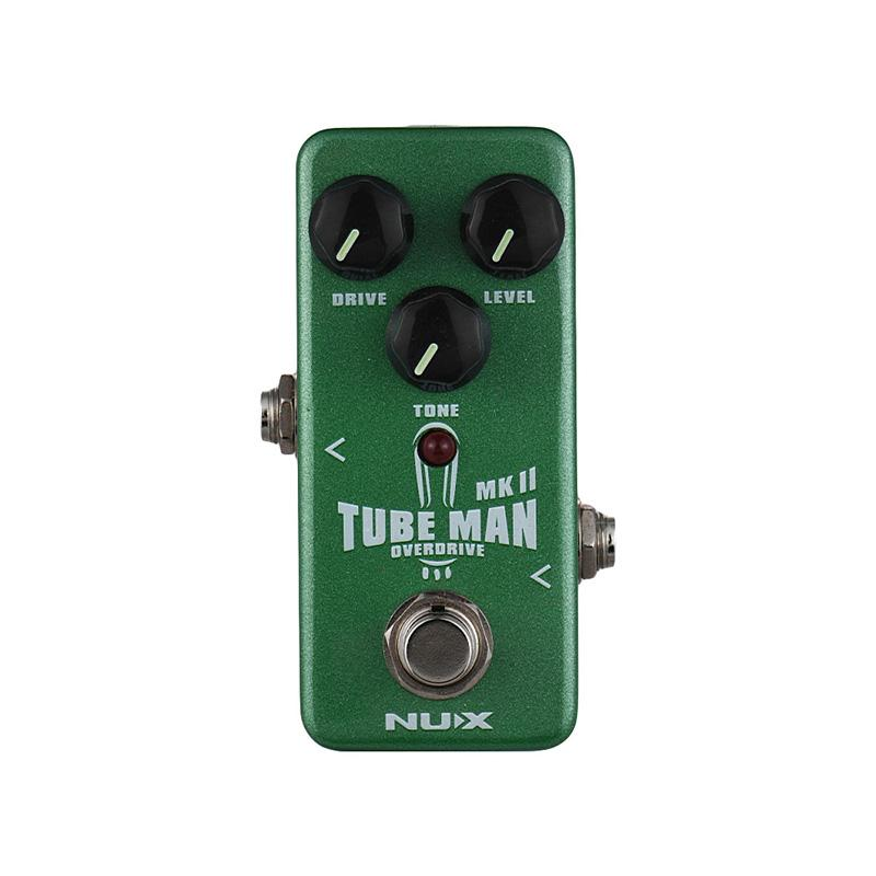 NUX NOD-2 TUBE MAN MK II Overdrive Guitar Effect Pedal Full Metal Shell True Bypass with LED Indicator Guitar Parts Accessories