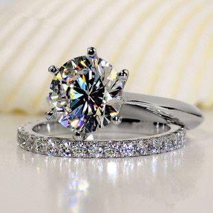 Luxo Qualidade Sona Synthetic Pedra Set casamento, conjunto de noiva, Engagement Ring Set For Women, atacado transporte da gota C19041601