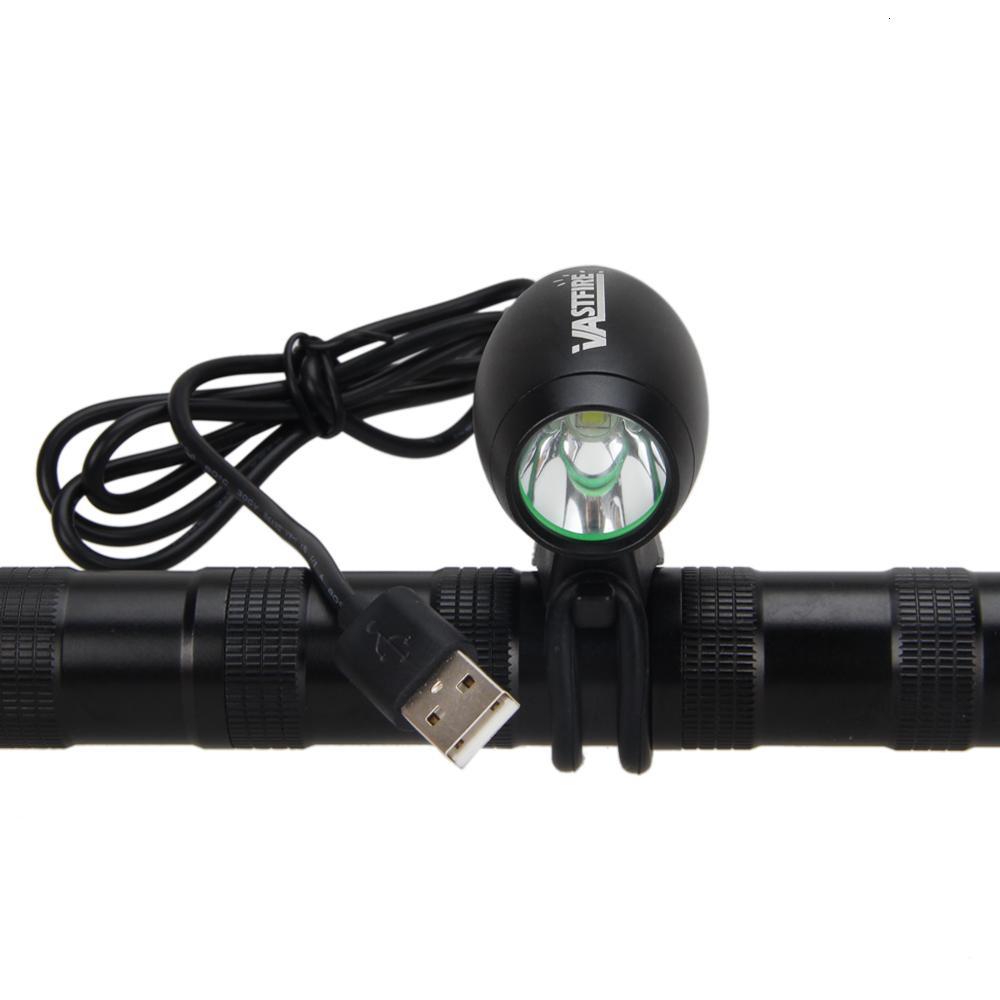 Wasserdichte LED-Taschenlampe 5000lm 5V USB XM-L2 LED Front Fahrrad-Licht-Kopf-Fahrrad-Lampen-Fackel Y191211