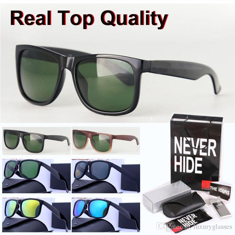 Gafas de sol de alta calidad Hombres Mujeres Marca diseñador marco Plank lente de cristal Gafas de sol con la caja original, paquetes, accesorios, todo!