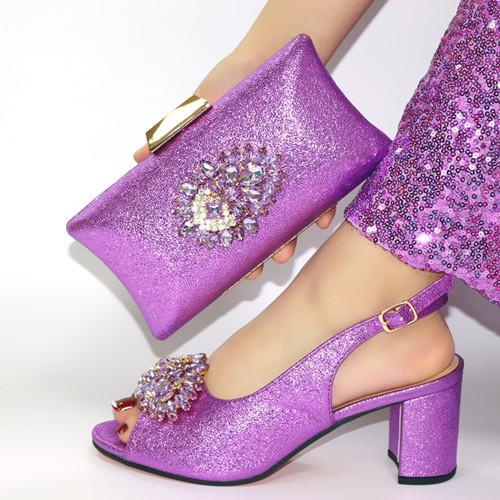 Chegada Nova Africano Sapatos de casamento e Bag Set céu azul Sapatos italianos com sacos de harmonização Nigerian Women partido! ! JN1-7