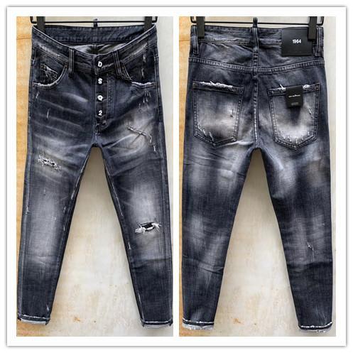 2020 neue Marke von modischem europäischen und amerikanischen Männern Casual Jeans, hochwertige Wäsche, reinen Hand Schleifen, Qualitätsoptimierung LA982