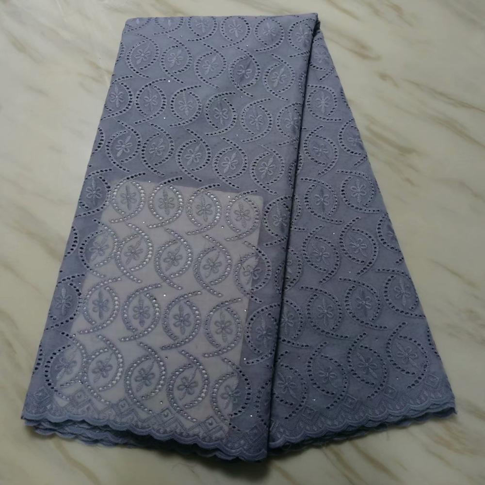 High-end moda tecido de renda africano design de luxo Últimas cor cinza 2019 de alta qualidade tecido tule africano rendas com pedras