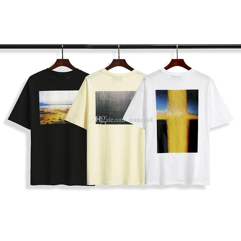 Deus # 136 de qualidade de nevoeiro T-shirt homens curto top mulheres t-shirt moda marca designer impressão manga medo vgsvv