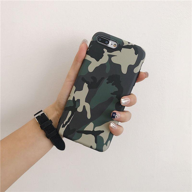 Охладить армии Camo Камуфляж телефон Чехлы для IPhone 11 Pro Max X XS XS XR Max 6 6S 7 8 Plus X Army Green Case Cover