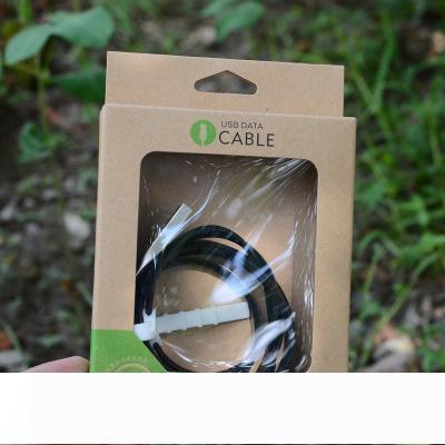 Универсальное USB зарядное устройство шнур ремесло крафт-бумага упаковка коробка розничной упаковке по 3 фута 6 футов 10 футов Samsung S9 и iPhone в Примечание 8 х 8 7 6 синхронизации данных