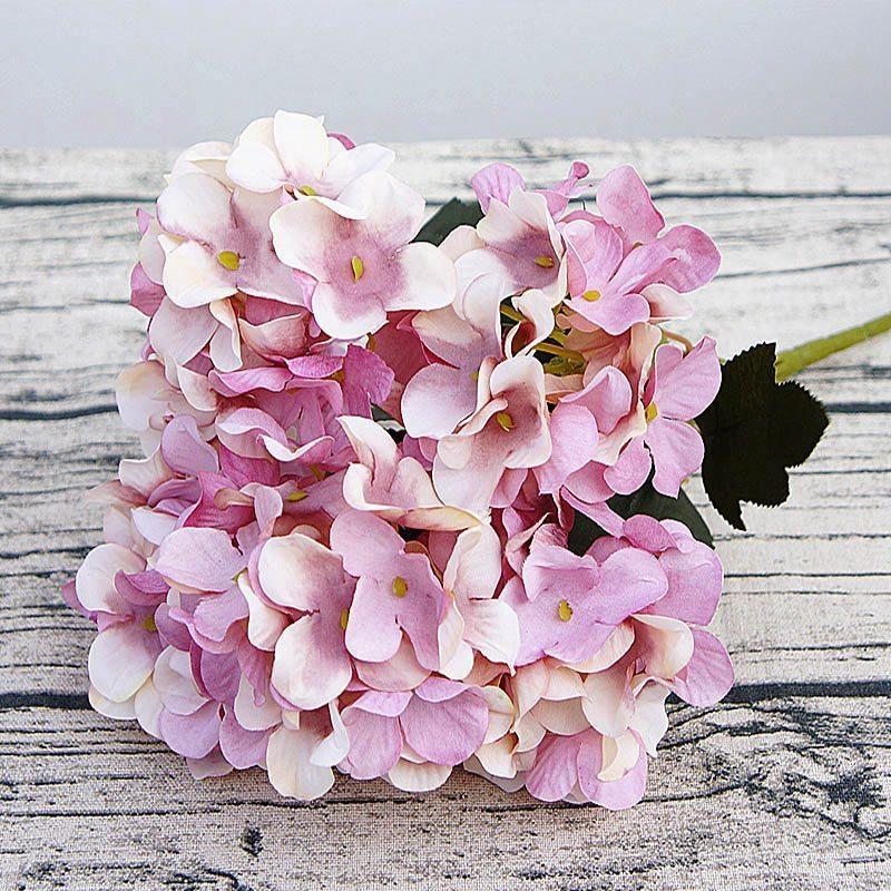 Ortensia di seta regali fai da te matrimonio decorazioni natalizie per la casa falsa floristica prodotti per la casa in plastica fiori artificiali in rattan