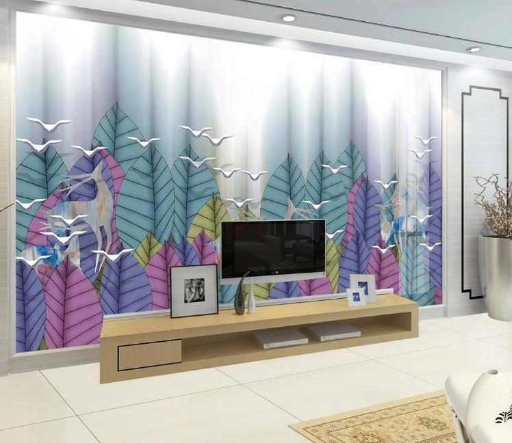 3D personalizado bosque artística concepción paisaje Elk Fondos Fondo grande mural de la sala de estar del sofá 3D fotografía de fondo Rollo