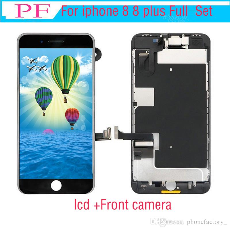 Grade A+++ LCD For iPhone 8 8 Plus OEM Display Full Set Digitizer Assembly 3D Touch Screen Replacement with Front Camera+Earpiece Speaker