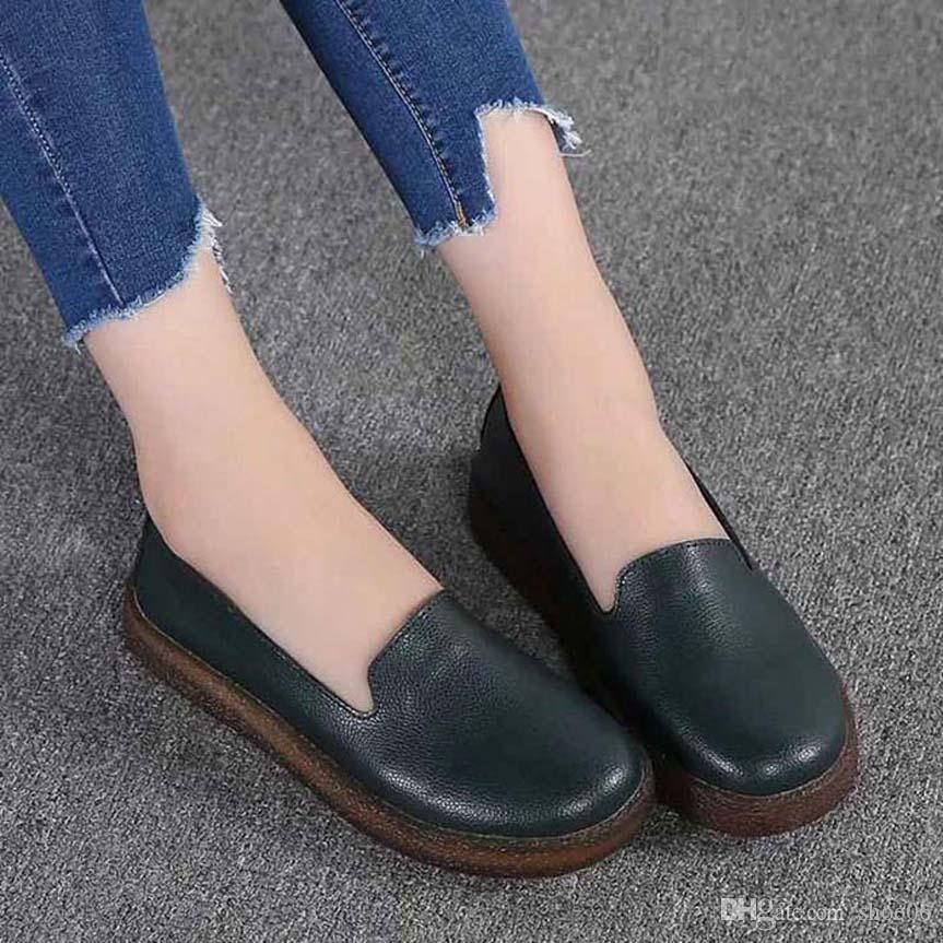 Mit Box Sneaker Freizeitschuhe Sneaker Fashion Sportschuhe der Qualitäts-Lederstiefel Pantoffel-Weinlese-Air für Frau 06PX651