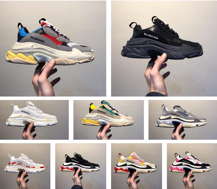 2020 مصمم أحذية الثلاثي S بالينسياغا واضح فقاعة ميدسولي الرجال النساء الأخضر أسود أبيض الثلاثي S حذاء عرضي زيادة جلدية DaZZwk #