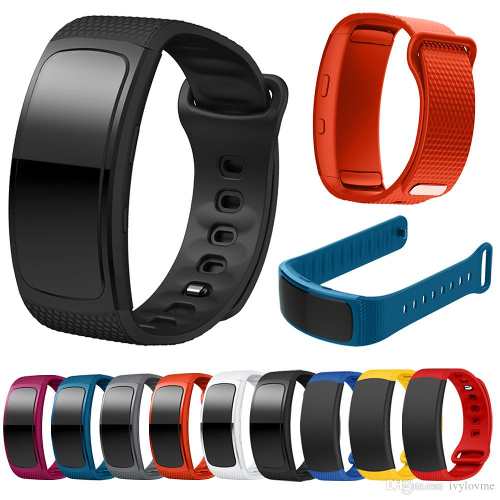 For Samsung Gear Fit 2 SM-R360 watch Wristband Watch band sport Silicone Watch Replacement wrist Band bracelet Strap