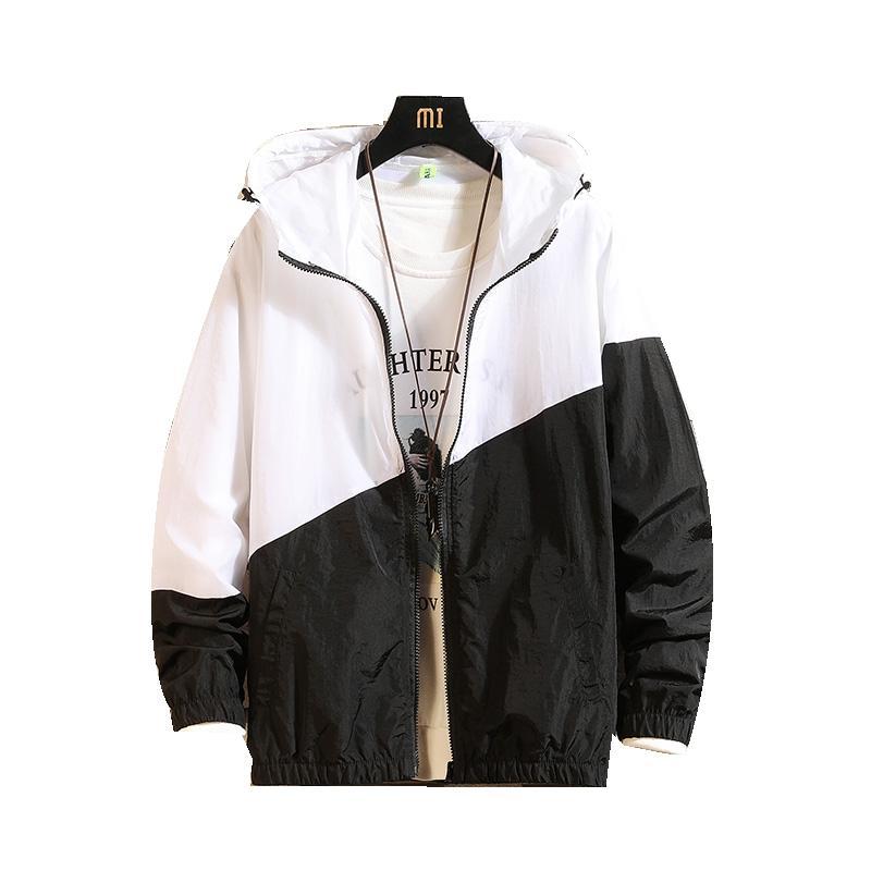 Veste coupe-vent Hommes 2020 Mode Printemps Eté Veste à capuche Vestes Casual manteau d'été pour hommes mince hommes Outwear Poids léger