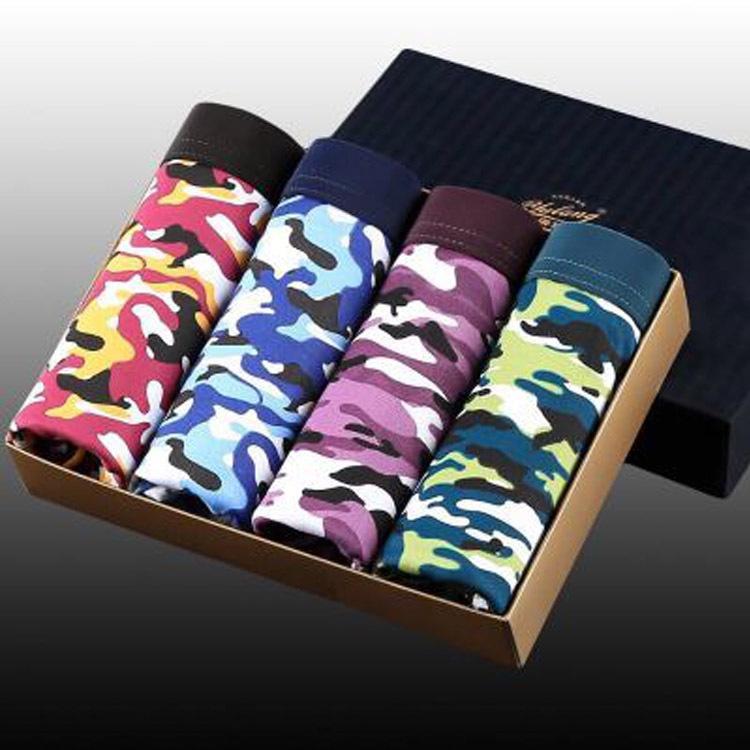 EQmoj 1-4 debajo de pantalones y ropa interior debajo de los pantalones boxeador de los hombres de algodón puro jóvenes estudiantes personalizado de gran tamaño ropa interior del boxeador s transpirables