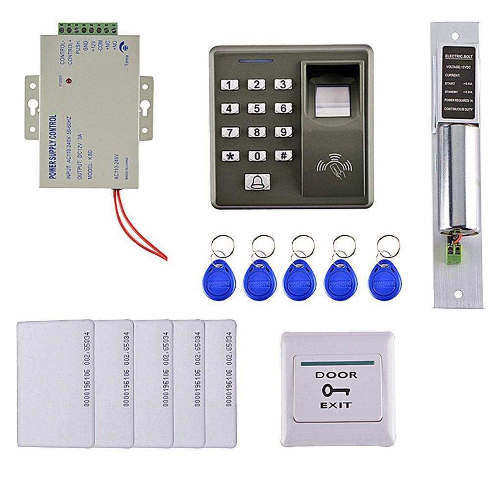 125KHZ Carte RFID Porte d'empreintes digitales de contrôle d'accès Kit de sécurité Accueil