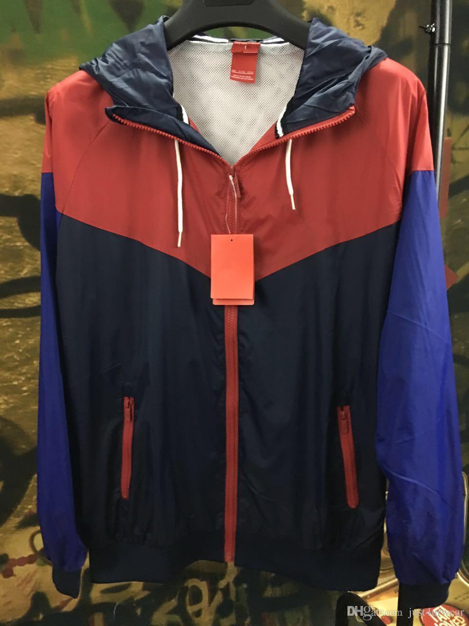 Homens Mulheres Jaqueta de Esportes Casacos Blusão Primavera Outono Marca Fina Cores Patchwork Jaquetas Com Capuz Basculador Tops