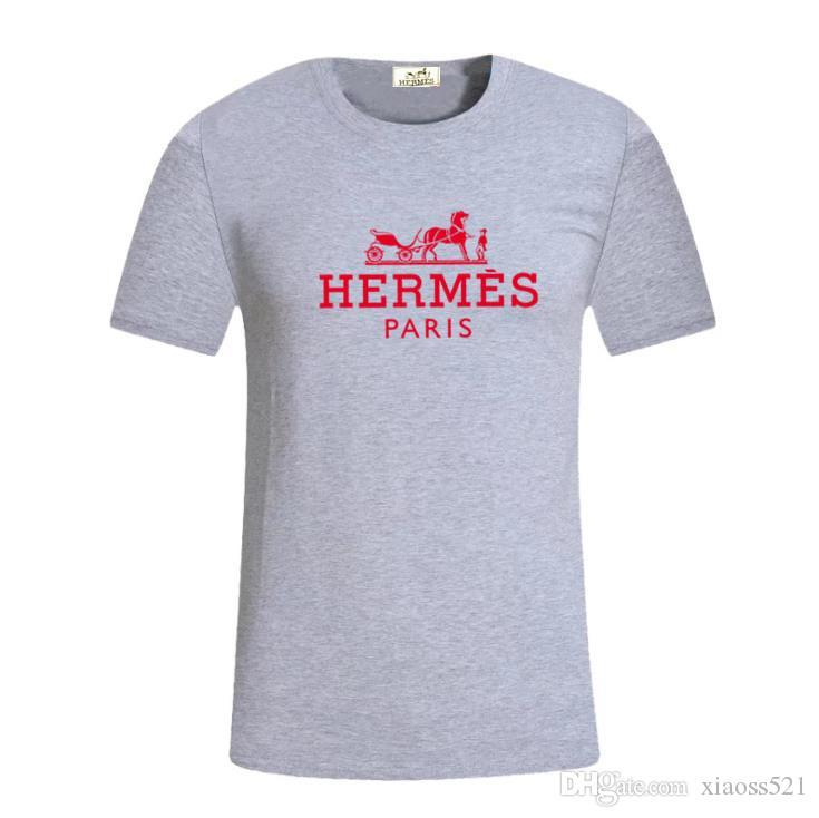 Europa París 2019 bordado de lujo contraste mosaico camiseta de moda para hombre camiseta de los hombres ocasionales ropa de algodón Tee
