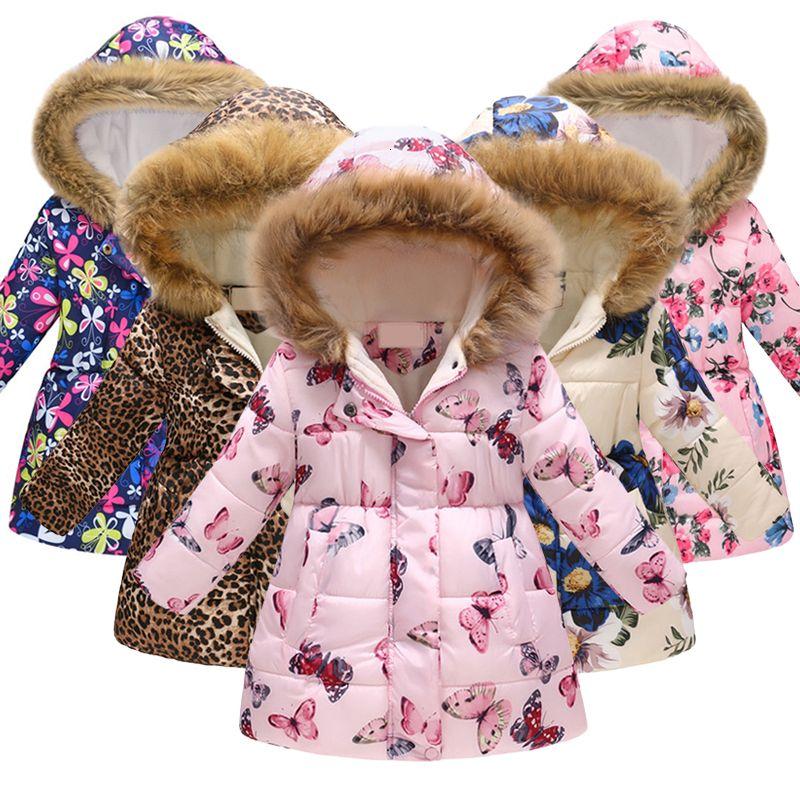 Winter Children Coat Baby Girl&Boys Warm Jacket Kids Fashion Printed Outerwear Children's Christmas Costume baby winter jacket T191013