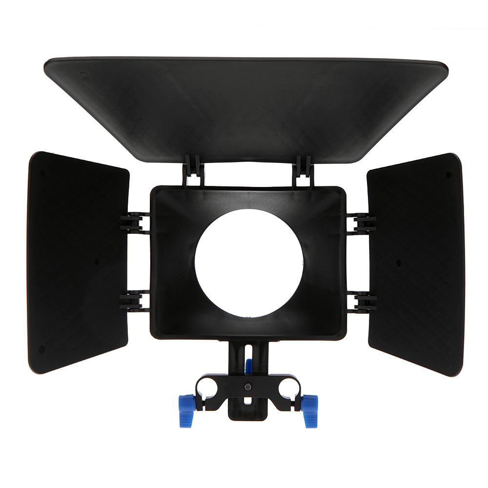 M1 Plastic DSLR Matte Box for 15mm Rail Rod Support Follow Focus System Canon D90 5D 60D 7D 550D 600D Nikon DSLR Cameras