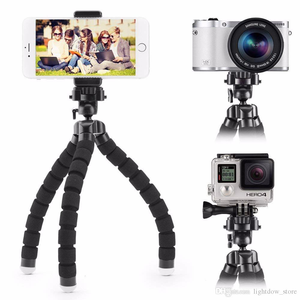 Mini Flexible Sponge Krake-Stativ für iPhone 6 7 8 7P 8P Samsung Xiaomi Huawei Smartphone Gopro Kamera Digitalkamera-Stativ Mini-Stativ