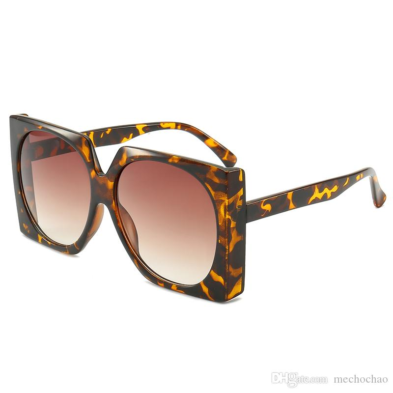 Women's Sunglasses Ladies fashion Brand designer Sunglasses female large frame glasses frame sunshade sunglasses UV glasses free shipping