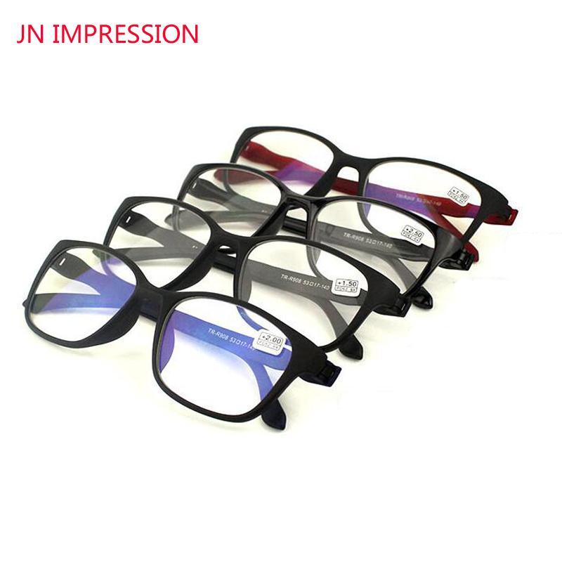 JN 4 Pack Anti EMPREINTE rayons bleus lunettes de lecture Hommes Femmes haute qualité TR90 Matériel de lecture Lunettes Prescription + 1,0 à 4