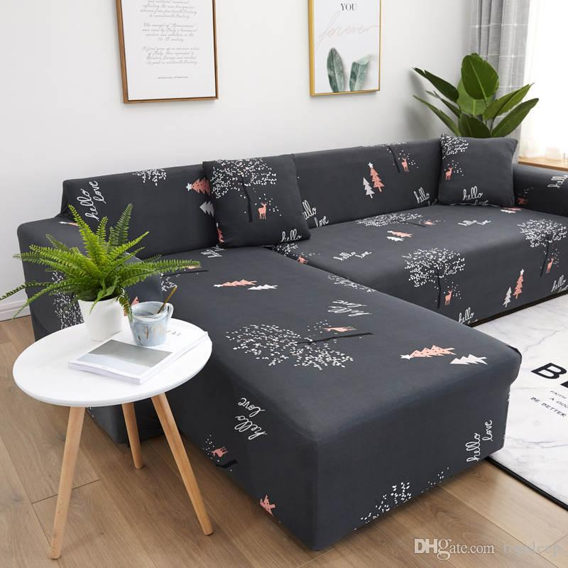 Forest deers sectional sofa cover couch covers with sheet pillow for living room High Quality of Home Furniture Protector