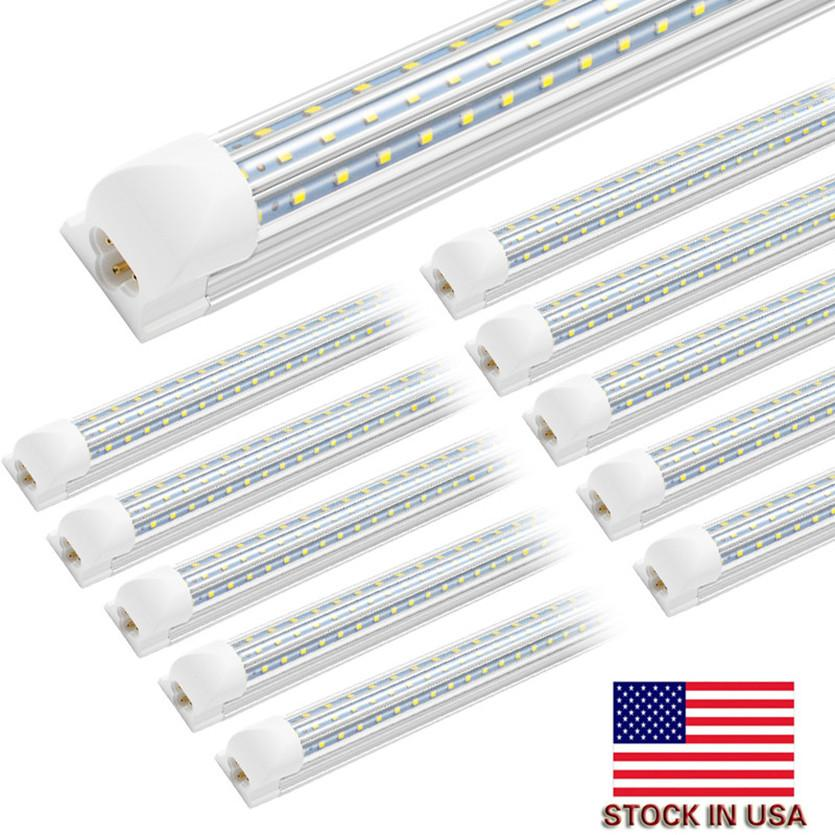 LED integrado Tubos 5FT los 6FT los 8FT refrigerador de luces LED 4 pies V tubo en forma de luz 4 5 6 8 pies Tubo fluorescente LED Light