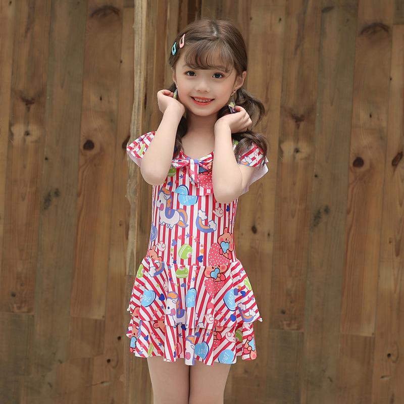 Çocuklar Mavi Ve Purple İçin Çocuklar fırfır Mayo One Piece Artı boyutu Mayo Kızlar Mayo Plaj Giyim Yüzme Suit