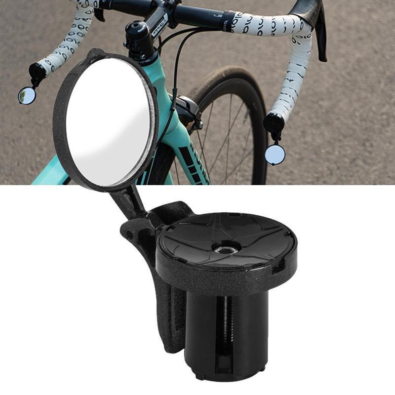 1 шт. Зеркало велосипеда Мини Зеркало заднего вида для дорожного велосипеда Нерушимое вращающееся виноградное изображение Безопасность бокового руля