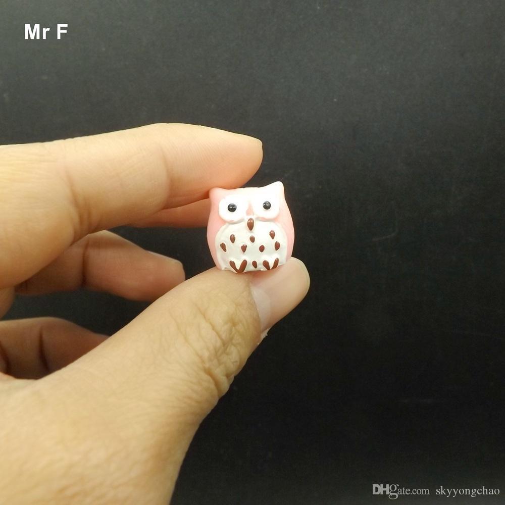 Engraçado Animal Resina Coruja Miniaturas Estatueta Artesanato Ornamento Decoração Brinquedo Criança Aprendizagem Jogo Toy Kid Presente Criança Auxiliares De Ensino