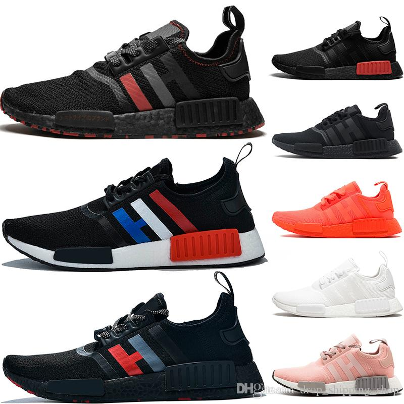 2020 Cheap Sale Nmd R1 Shoes Oreo Og Triple Black White Solar Red