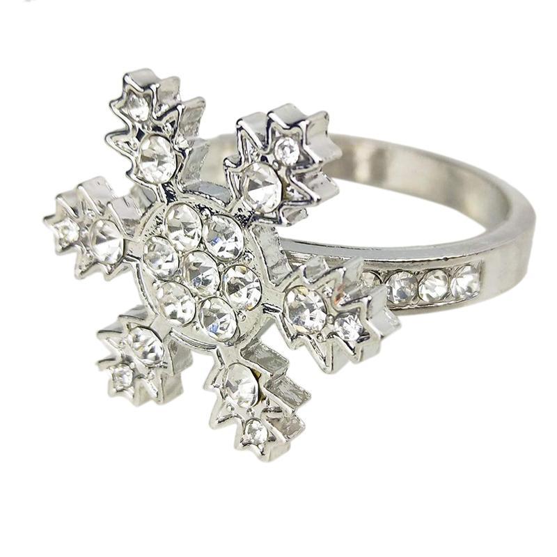 6 Pcs Snowflake Guardanapo Anéis Set guardanapo Titular Adorno requintados domésticos Guardanapos Anéis Set para ocasiões casuais ou formais Di