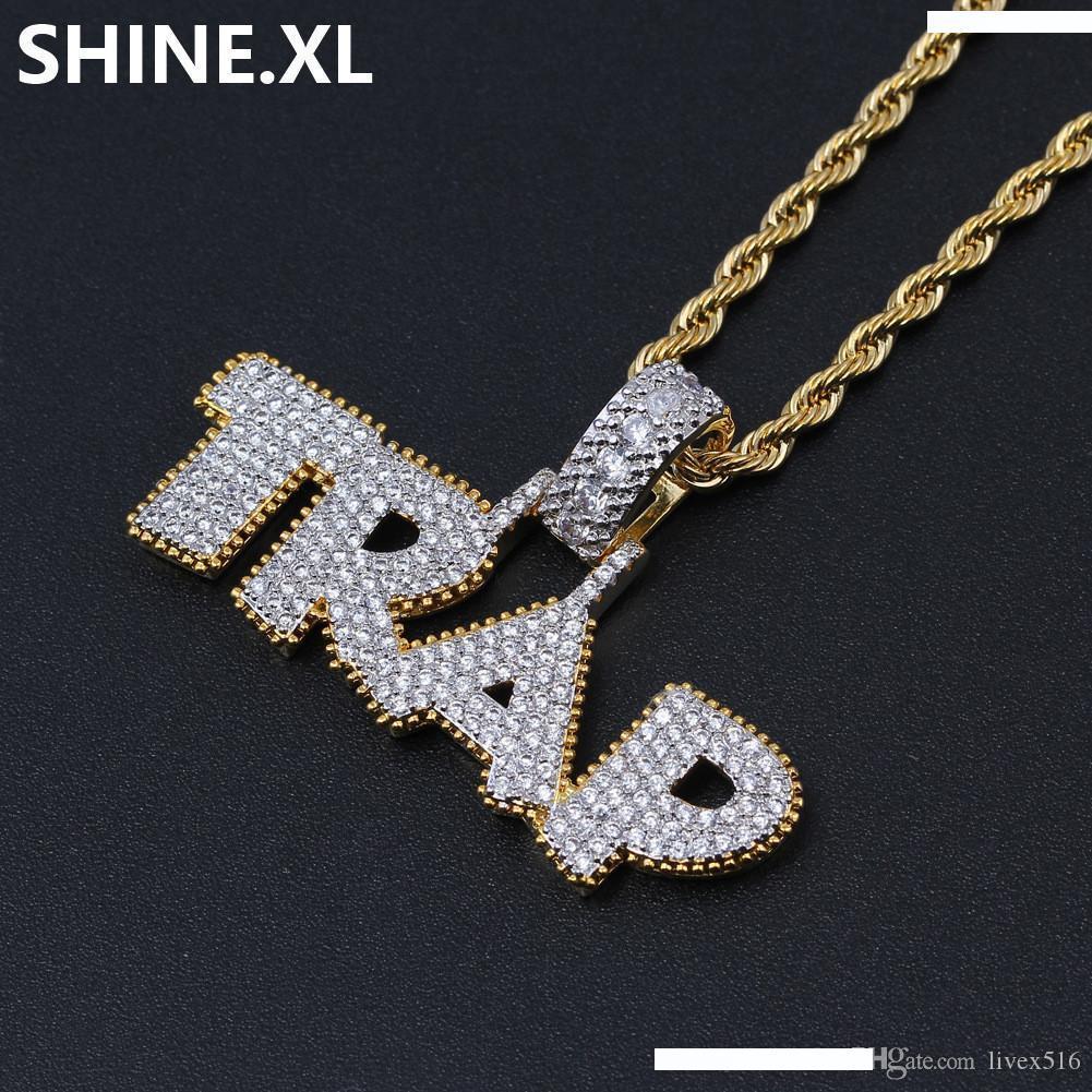 Cadena collar collar con remolque XL corazón en el plata o Rosegold