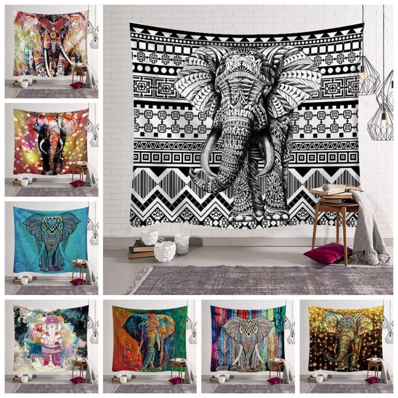 12 Styles Bohemian Mandala Tapestry Strandtuch Elephant Printed Yoga-Matten Polyester Badetuch Hauptdekoration Außen Pads CCA11528 30pcs